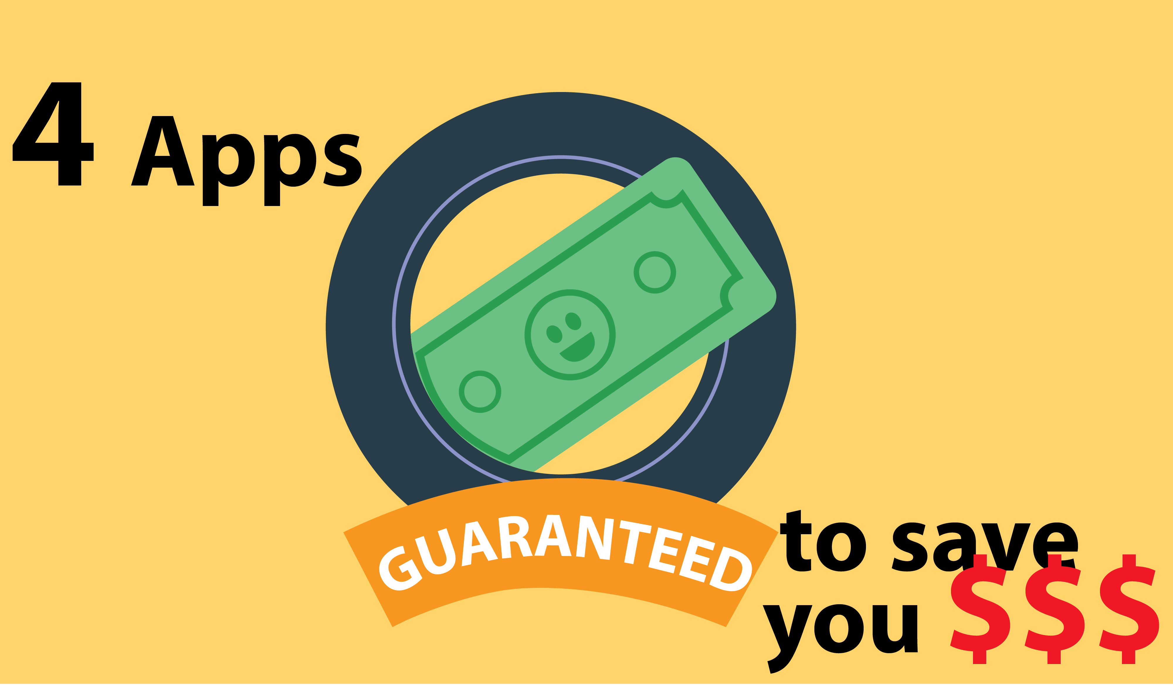 Top 4 Apps Guaranteed to save you money!