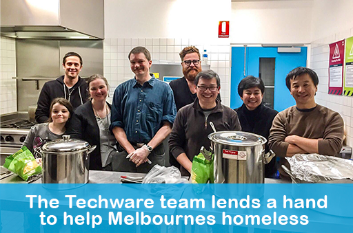 Techware Team Helps Feed the Homeless